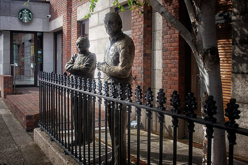 BRIAN FRIEL AND JOHN B KEANE BY NEIL C BREEN AT MOUNT STREET CRESCENT